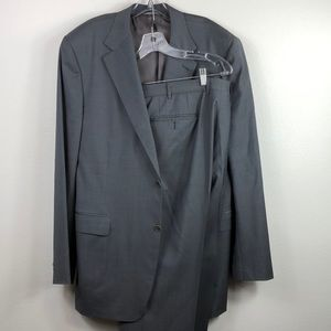 Canali Gray Wool Slim Fit Suit Italy 46L